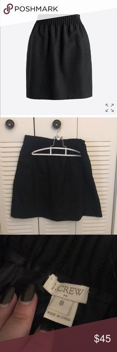 J  crew sidewalk skirt Black skirt with pockets size 8. Hardly worn. Good condition J. Crew Skirts Pencil
