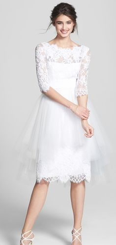 Lovely in lace | Tulle Overskirt Embroidered Lace Dress