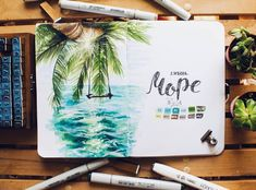 Landscaping sketch copic Ideas for 2019 Bullet Journal Themes, Bullet Journal Art, Bullet Journal Inspiration, Copic Drawings, Art Drawings, Marker Drawings, Copic Art, Sketch Markers, Landscape Drawings