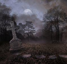 Cemetery II Bg Premade by StarsColdNight on deviantART