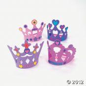 princess craft crowns, $7 p/12