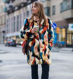 Street fashion ze Stockholm Fashion Week jesień-zima 2016/2017, fot. Imaxtree