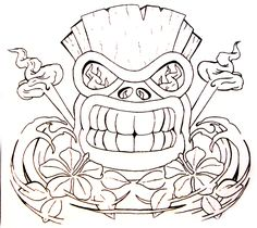 tiki tattoo | Tiki With Hawaiian Hibiscus By Aworldasleep On Deviantart Design ...