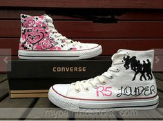 #R5 shoes R5 Hand Painted Shoes,High-top Painted Canvas Shoes