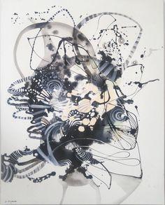 Abstrakcja obraz olejny nowoczesny Majchrzak duży