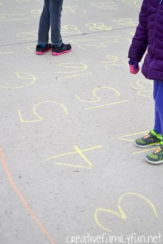 Driveway Hundred Chart plus 5 games to play with it. Makes learning math so much fun!