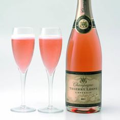 pink champagne , a little of the rose