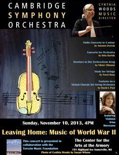 Cambridge Symphony Orchestra - Sunday, November 10, 2013