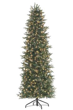 $300 free shipping; Slm Aspen Fir 7.5'H Faux Tree with Clear Lights from Home  Decorators 800 lights