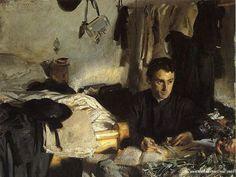 Padre Sebastiano -  John Singer Sargent Paintings