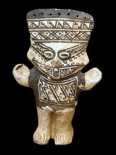 Chancay Cuchimilco  Peru's Chancay culture settled fifty miles north of Lima in the Chancay Valley between 900 and 1400 A.D. The Chancay people were exquisite ceramic and textile artisans. Cuchimilco ceramic figures are almost always presented in pairs to represent family. Archaeologists have often found cuchimilcos in the tombs of Chancay nobility, as their outstretched hands absorb negative energy.