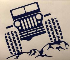 Do you like to take your Jeep off roading? Show your rock pride with this decal! Let me customize this your Jeep's inner spirit.
