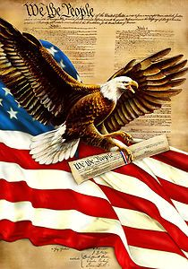 We the people Eagle - Patriotic American Eagle