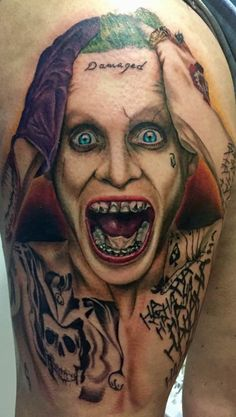 Joker tattoo by Victor. Limited availability at Redemption Tattoo Studio.