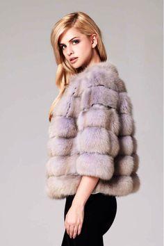 Lilly E Violetta Dyed Sable Fur Jacket Renard, Manteau Fourrure, Rayures 7949fc86e39