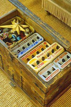 Egg cartons for Christmas bulbs