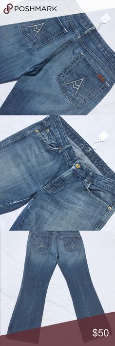 7 for all mankind the A pocket 31/30 Like new 7 for all Mankind Jeans
