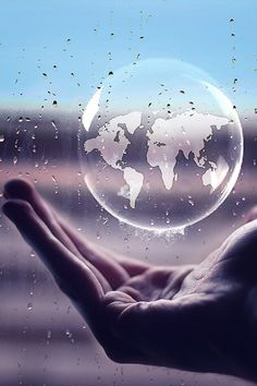 'The World in the Palm of Your Hand', black and white photo. Our Planet, Save The Planet, Planet Earth, Black White Photos, Black And White Photography, Mother Earth, Mother Nature, We Are The World, Green Life