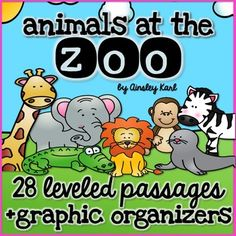 Do you have a zoo unit? Add these non-fiction passages to your day for a fun and engaging activity!Use these for close reads, examining tough vocabulary and reading multiple times as you fill in the provided graphic organizers. 2 passages a high & a low. First Grade Activities, Reading Activities, Leveled Reading Passages, Teacher Boards, 2nd Grade Reading, Close Reading, Reading Levels, Graphic Organizers, Zoo Animals