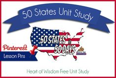This year, our homeschool focus is 50 States in 50 days with Bunny Trails. All the links are now on Pinterest Follow Robin Sampson's board Homeschool HOW Unit Study: US Geography on Pinterest…