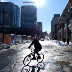 rue Sainte-Catherine Bicycle, Motorcycle, Bicycle Kick, Bike, Trial Bike, Biking, Motorcycles, Bicycles, Engine