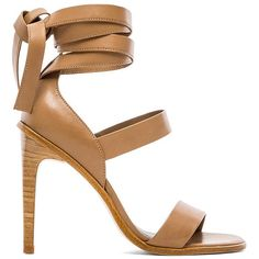 Tibi Pierce Sandal Shoes ($253) ❤ liked on Polyvore featuring shoes, sandals, heels, high heels, sapatos, ankle tie shoes, tibi sandals, ankle wrap shoes, ankle strap sandals and tibi