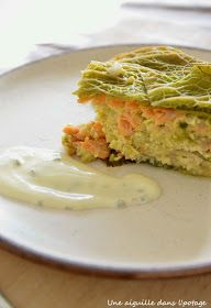 tourte chou vert saumon