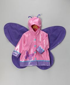 Another great find on #zulily! Pink Wing Raincoat - Toddler & Girls #zulilyfinds