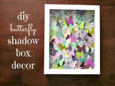 Patterned butterfly shadow box