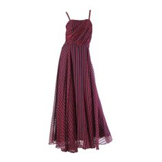 1940s Uniquely Draped Sheer Gown