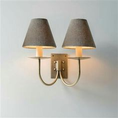 Beautiful brass, country modern wall light with period details, double arms and choice of shades for your bedroom, kitchen diner or living room. Traditional Interior, Classic Interior, Candle Shades, Door Fittings, Cottage Lighting, Chimney Breast, Modern Wall Lights, Candle Sconces, Antique Brass