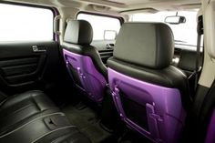 Purple Interior of Hummer H3 | gayow.com