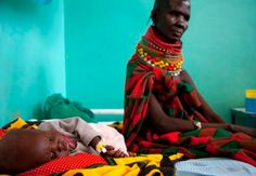 Hunger may be largest health impact of climate change. A Turkana woman looks after her malnourished child at Lodwar district hospital, northwest of Nairobi, amid a drought that hit the Horn of Africa, leaving millions hungry, Aug. 9, 2011. REUTERS/Kabir Dhanji