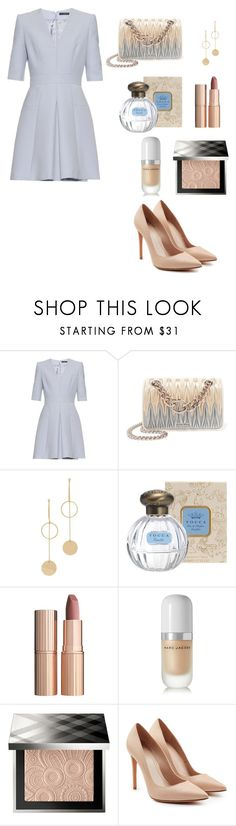 """Untitled #7"" by merve-hotkid on Polyvore featuring Alexander McQueen, Miu Miu, Cloverpost, Charlotte Tilbury, Marc Jacobs and Burberry"