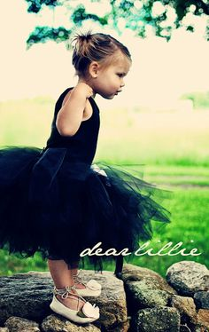 black tutu and tank top