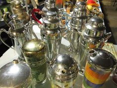 Vintage Martini Shakers at Vintage Garage Chicago from July 15th! Next show August 19th, www.vintagegaragechicago.com