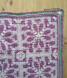 Ravelry: Wild Jasmine blanket pattern by Dr Nasreen Imrit