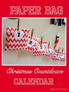 Paper Bag Christmas Countdown Calendar