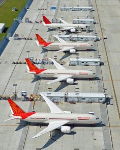 Air India 787s in a row at Charleston