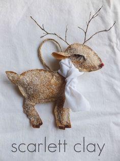 paper bag reindeer, twigs for antlers