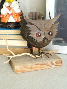 Vintage Owl Assemblage  Farmland Chic by wilshepherd on Etsy