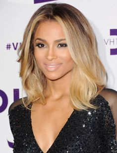 Ciara's shoulder-length cut retains enough hair for swinging, and the blunt layers add thickness and volume where it's needed.
