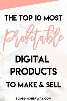 Want to make money online? Here are the best digital products to sell and earn passive income with in Etsy Business, Business Tips, Creative Business, Online Business, Business Planning, Business Coaching, Craft Business, Make Money Blogging, Way To Make Money