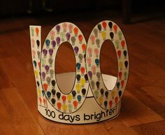 100 Days Brighter Hat for the 100th Day