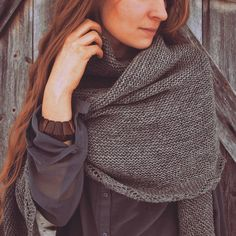This shawl has become one of my favorite garments! Many of you have been asking a pattern of this and I'll try to write it down one day! Cowls, Scarfs, Needlework, Shawl, Knit Crochet, My Design, Ruffle Blouse, My Favorite Things, Knitting