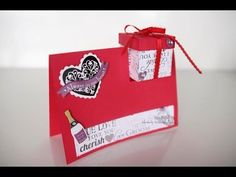 Tarjeta con cajita ideal para este día del amor y de la amistad /san val... Journaling, Youtube, Friendship Cards, Handmade Birthday Cards, Bears, Valentines, February, Crates, Caro Diario
