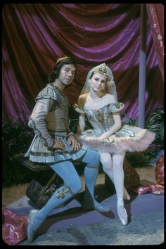 """New York City Ballet production of the movie version of """"A midsummer Night's Dream"""" with Patricia McBride and Nicholas Magallanes as Hermia and Lysander, choreography by George Balanchine (New York)"""