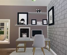 A cozy little desk area for the corner of your room Tiny House Layout, House Layout Plans, House Layouts, Bedroom House Plans, House Rooms, Home Building Design, House Design, Modern Family House, Family House Plans