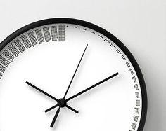 cool Wood Clock | ... clock, housewarming gift, office wall clock, cool gift idea, time