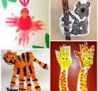 animais pintura mao educacao infantil